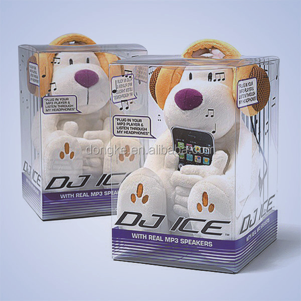 teddy bear clear packaging box plastic supplier in china