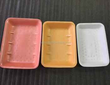 Size Customized Vacuum Forming Absorbent Funcation Plastic Polystyrene Foam Meat Packaging Tray