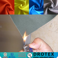 pu coated polyester cotton twill fire retardant fabrics for winter jackets