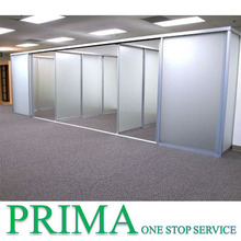 Aluminum frame double office partition systems operable wall partitions glass wall
