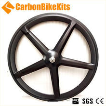 CBK 3K/UD track road carbon 5 spoke bicycle wheel