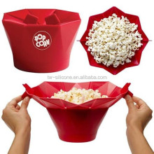 Silicone Microwave popcorn poppers, pop corn maker, pop corn machine