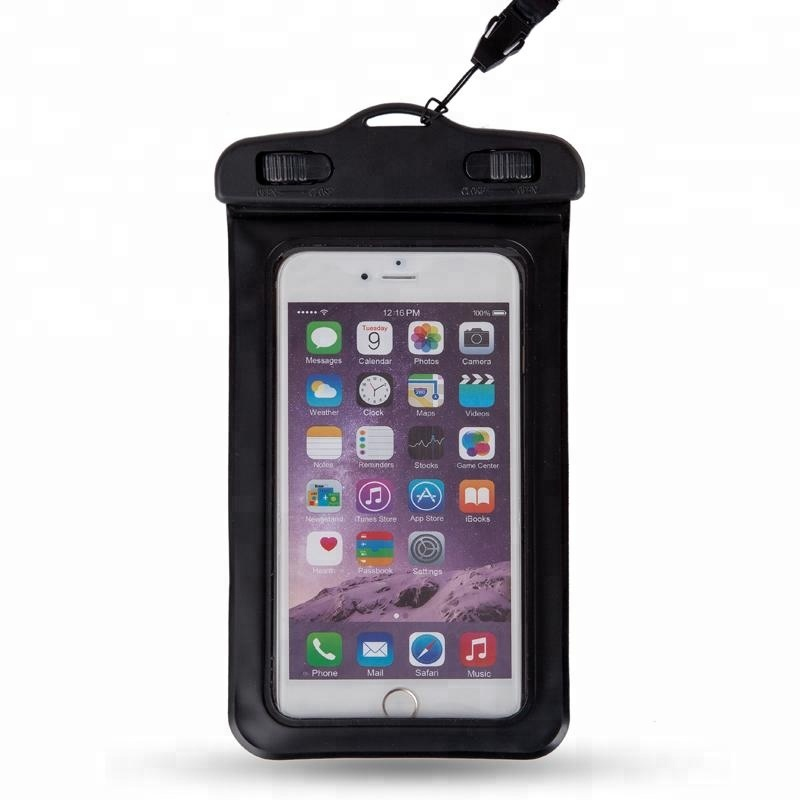 Fashion Waterproof Mobile Phone Carry Bag Waterproof Cell Phone Bag with Neck Strap for Swimming