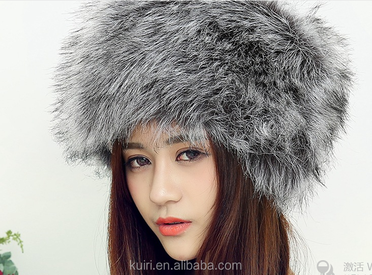New Winter Fashion Faux Fox Fur Hat For Women Princess Cute Dome Caps Plus Warm Skullies Beanies and Rex Rabbit Fur Hat