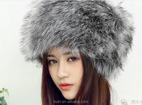 New Winter Fashion Faux Fox Fur Hat For Women Princess Cute Dome Caps Plus Warm Skullies Beanies and Rex Rabbit Fur Hat