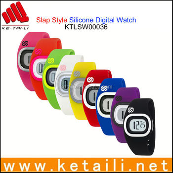 New beautiful design silicone bracelet watch, digital silicone rubber wristband fashion sports silicon watch