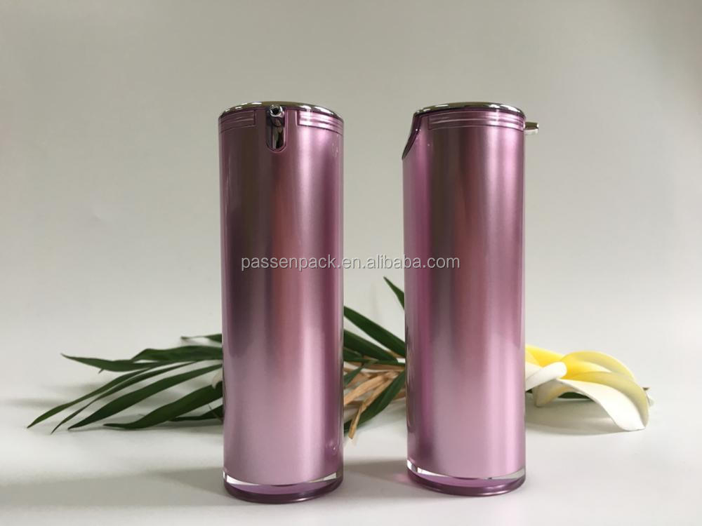 30 50ml pink purple color acrylic cosmetic lotion bottle PPC-YKL-L015