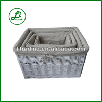 Willow Storage Basket With Liner