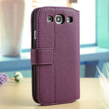 hot selling wallet cover for samsung galaxy s3, folder case for samsung galaxy s3, leather case for samsung galaxy s3 / i9300