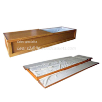walnut light champagne color with crepe China coffin casket in American casket design
