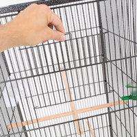 large metal bird cage for parrot