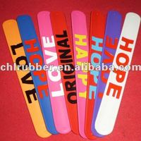 Christmas Party Accessory Slap Silicone Bracelet