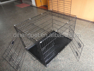 Folding Metal Pet Dog Cage With Tray