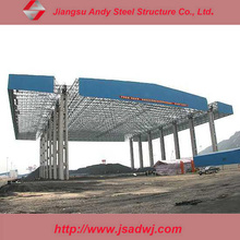 Design Metal Structure Space Frame Prefab Truss For Gas Station Roof