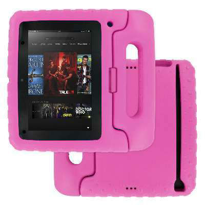 "Kindle Fire HD 7"" Child Kid Proof Soft EVA Foam Hot Pink Case Cover for ipad"
