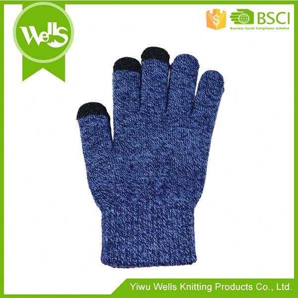 Modern style attractive style men's knitted gloves for wholesale