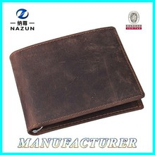Leisure Classic Hot Sale Men Wallet Newest China Short Men Crazy Horse Leather Purse