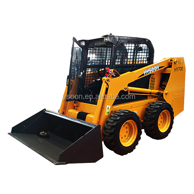 China factory direct offer HY700 Bobcat skid steer loader with bucket attachments for sale