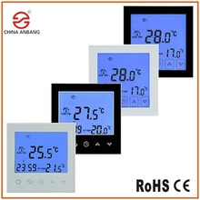 Anbang European Standard Installation Programmable Touch Screen Thermostat 16A For Infrared Heating