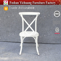 French Criss-Cross Chairs / white salon styling chairs YC-A212