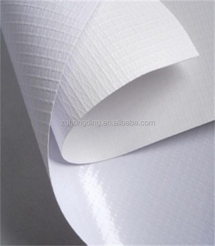 380g White glossy VINYL FLEX BANNER roll For distributor and trading cmpanies