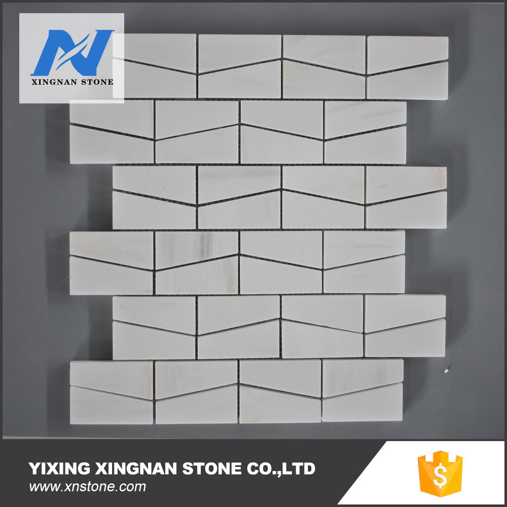 White Marble Mosaic For Flooring Decoration