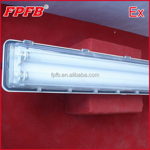 Ex proof plastic fluorescent light fixture