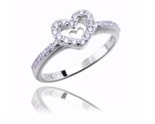 925 sterling silver gc jewelry germany women ring with heart