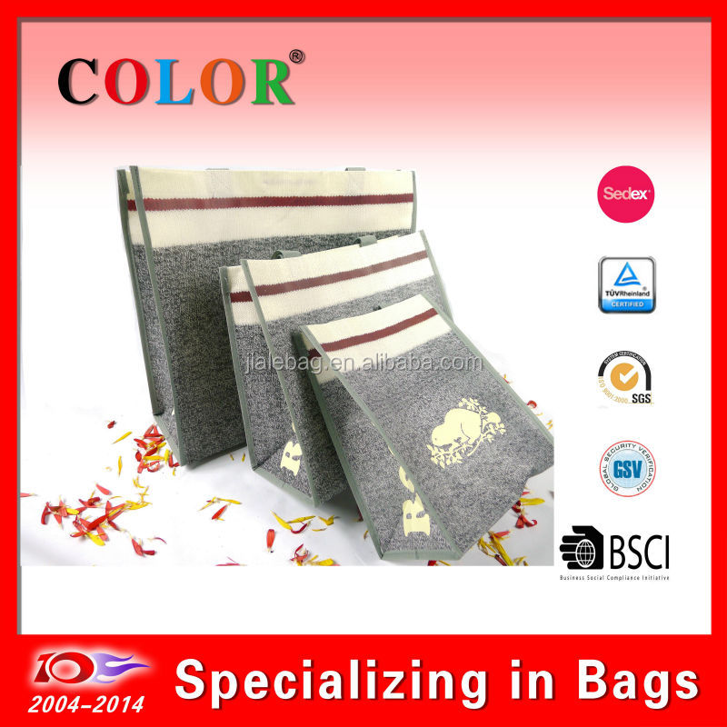 2014 eco friendly laminated pp non woven bag, colored pp non woven bag