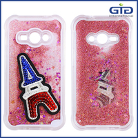 [GGIT] Wholesale New 3D Quicksand Liquid Cell Phone Case with DIY Sticker for Samsung for Galaxy J1 4