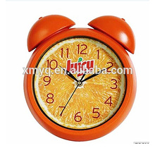 table clock plastic materials quartz alarm clock wholesale with two bell