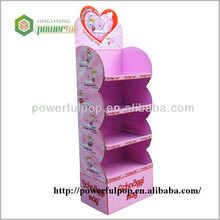Supply pink color display unit cardboard headband display rack