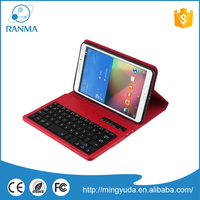 Wholesale Ultra Thin Pu Leather bluetooth keyboard case for samsung
