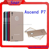 Luxury Ultra-thin Metal Aluminum Bumper Cover Skin Case For Huawei Ascend P7