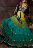 indian pakistani anarkali frock