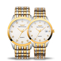 Luxury couple stainless steel men and women watch