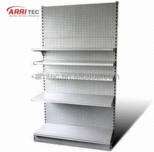 No side panel hardware metal vertical pegboard metal display rack