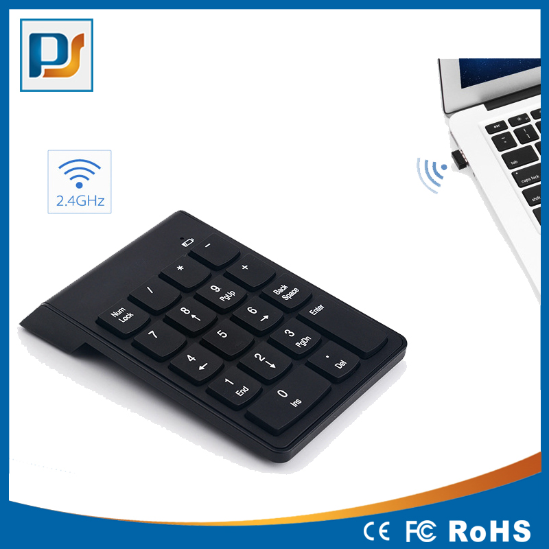 Wireless 2.4Ghz 18 hot keys usb numeric keypad