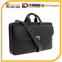 2014 cheap men leather briefcase and business bag and document bag