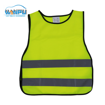 100%Polyester Yellow Mesh customized logo printed reflective safety vest high visibility polyester police vest wholesale safety