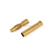 China supplier gold plated bullet electric Male Female 4mm banana plug connector for RC modle