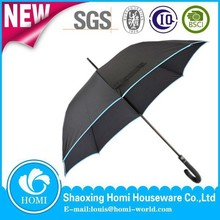 2015 Homi high quality unique straight umbrella curve handle customized