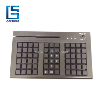 66 Keys Pos Programmable Keyboard with MSR 3 Tracks USB+PS/2 Port