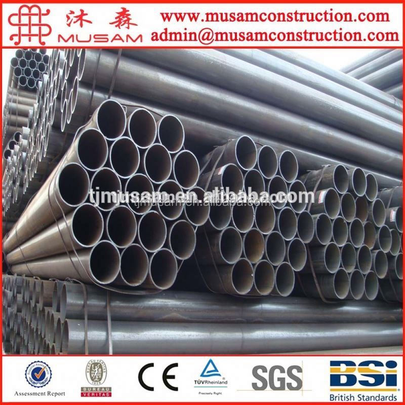 ASTM A500 ERW/lsaw carbon SCH 40 2 inch black round shape Steel pipe/tube