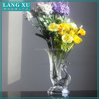 decoration clear peacock shaped centerpiece vases