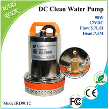 90W 12V DC 120VA clean water pump 2 inch outlet max flow 5.7 lift, max head 7.5 meter high CE approved