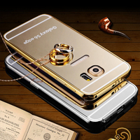 Hot selling luxury aluminum bumper cover smart mirror case for samsung galaxy s6 edge