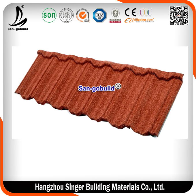 China colorful metal roofing sheets /glazed roofing tile / zinc steel stone coated tiles