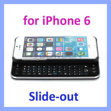 "Slide-Out Bluetooth keyboard Hard Case for Apple iPhone 6 4.7"" Bluetooth keyboard"