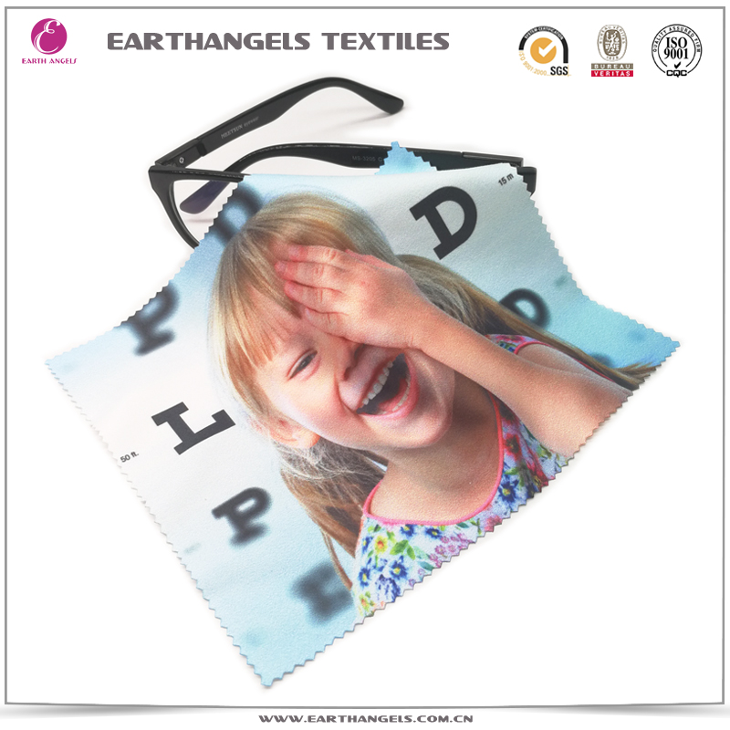 Custom Heat Transfer Printed Microfiber Lens Glasses Cleaning Cloth